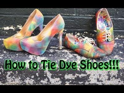 DIY: How to Tie Dye Shoes!!!|EyesOnMyPrize