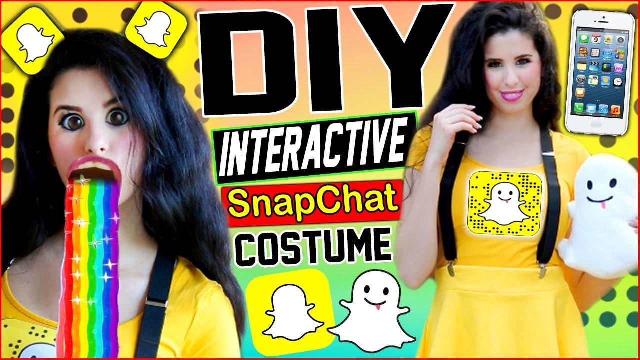 DIY Interactive Snapchat Costume! | Be The Snapchat App! | Puking Rainbow Prop! | Snapchat Shoes!