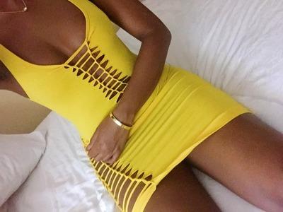 DIY Laced Up Dress