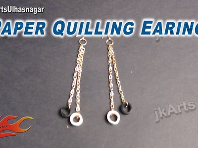 DIY Paper Quilling Jewelry long Earring |  How to make | JK Arts   580