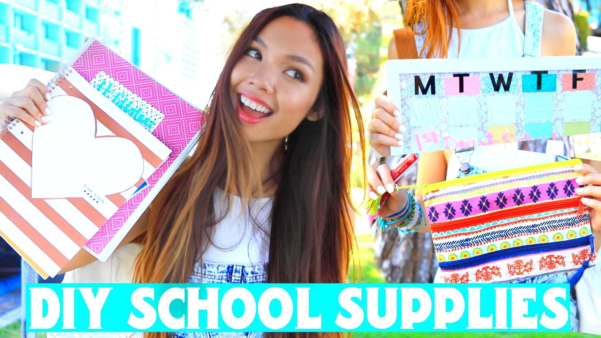 DIY School Supplies & Organization Ideas! | Back to School 2015 +Giveaway!!