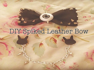 ✖ DIY Spiked Leather Hair Bow ✖