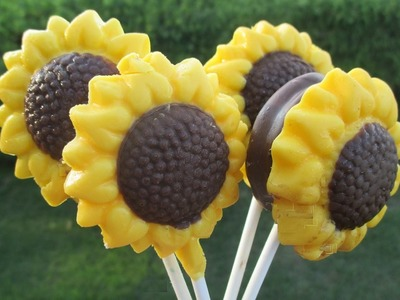 DIY Sunflower Oreo Pops and Chocolate Lollipops