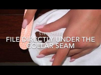 DIY TUTORIAL: Distress your t-shirt in 1 minute (kim kardashian X kanye inspired)