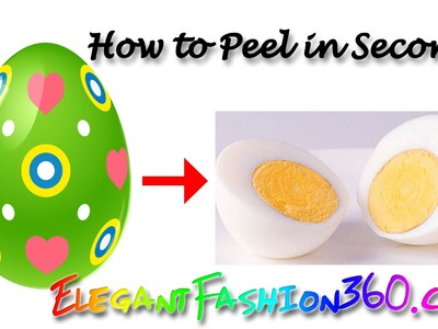 Easiest way to peel an egg in seconds - Hard Boiled Egg - Easy Peeling for Easter