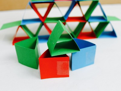 Easy paper craft: How to make paper construction blocks