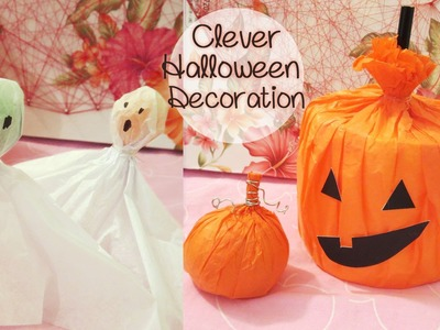 Halloween Decoration Using Household Items | Sunny DIY