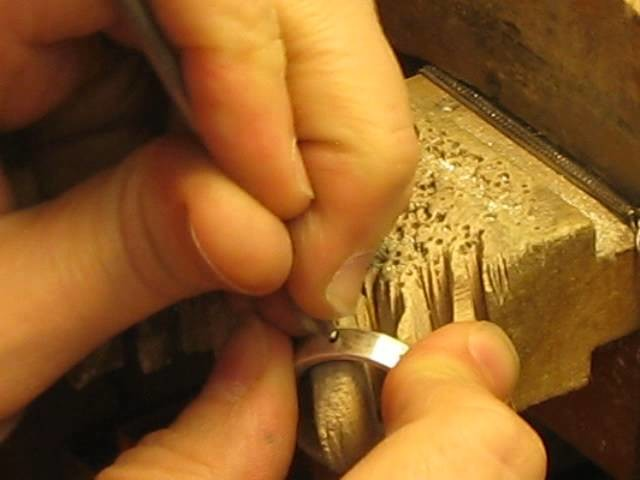 """How to Burnish or """"flush"""" set stones Tutorial by Cristina Hurley"""