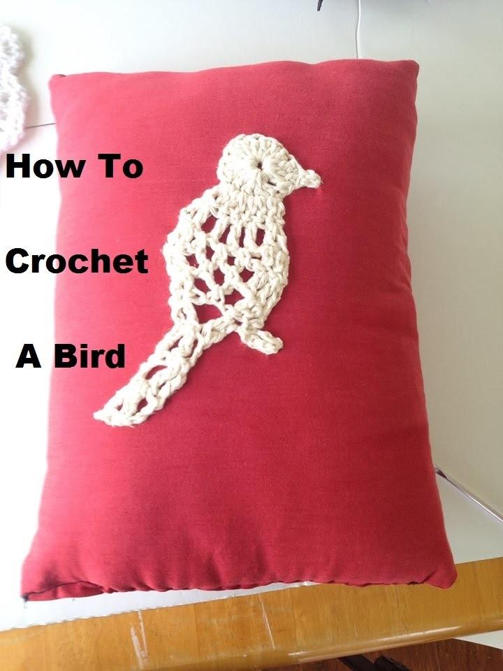 How to crochet a bird applique