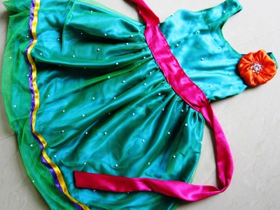 How to cut and stitch a Rainbow fairy dress