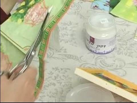 How To Decoupage : How To Decoupage A Box: Cutting Paper Strips