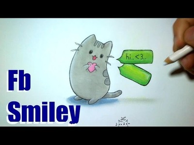 How to Draw a Cat Smiley Facebook