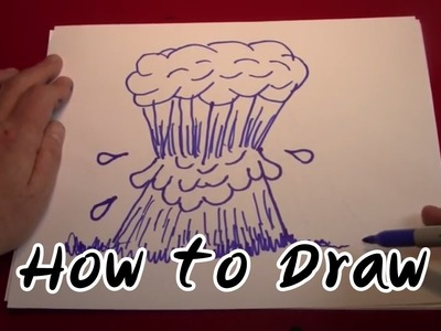 How to Draw - Drawing Erupting Volcano and Eyeball