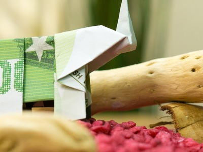 How to fold an origami elephant out of money