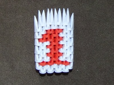 How To Make a 3D Origami Number 1