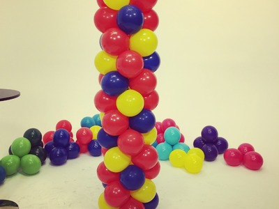 How To Make a Balloon Tower - Spiral Checkerboard Pattern