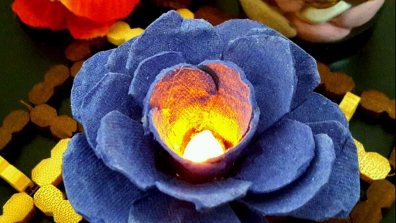 How To Make A Beautiful Egg Carton Flower Light - DIY Crafts Tutorial - Guidecentral