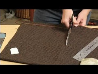 How to Make a Coin Purse : Marking & Cutting Fabric for A Coin Purse