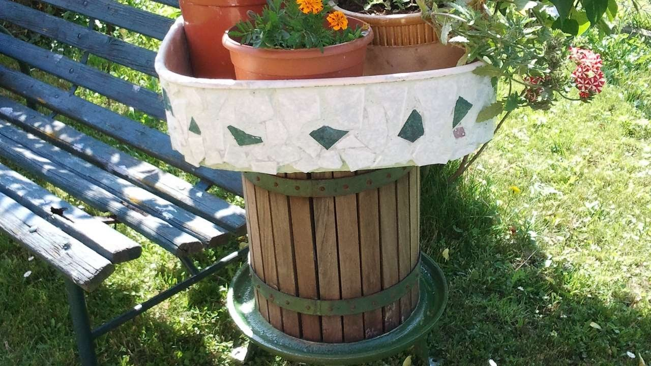 Garden, How To Make A Garden Pot Stand - DIY Home Tutorial -