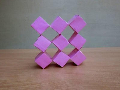 How to Make a Transforming Paper Cube - Easy Tutorials