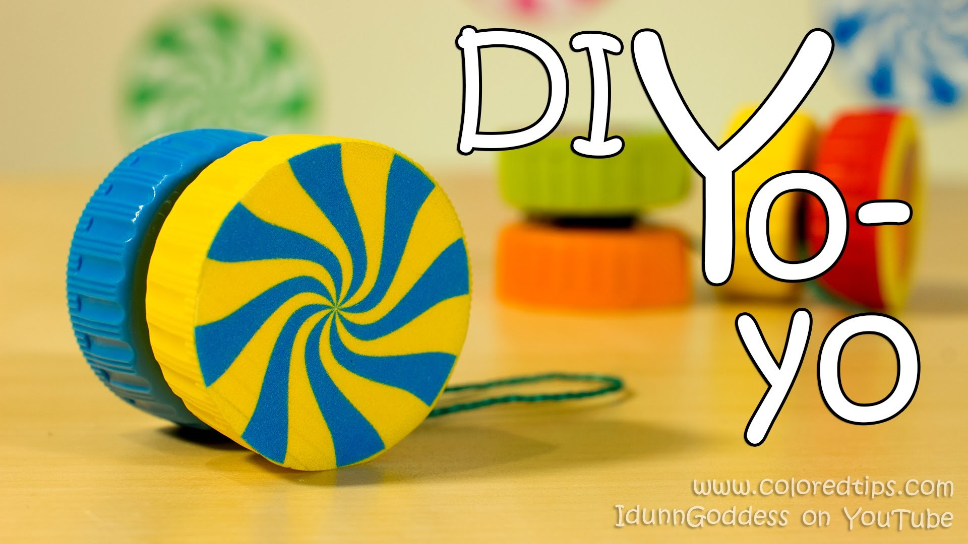 How To Make A Yo-Yo - Easy Way of DIY Yoyo Made Out Of 2 Plastic Caps
