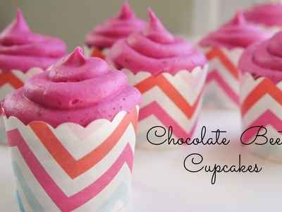 How to Make Chocolate Beet Cupcakes - Valentine's Day recipe