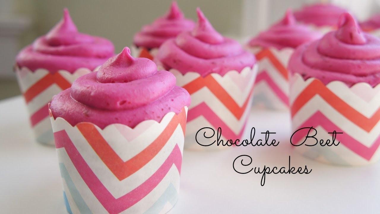 How to Make Chocolate Beet Cupcakes - Valentine's Day recipe