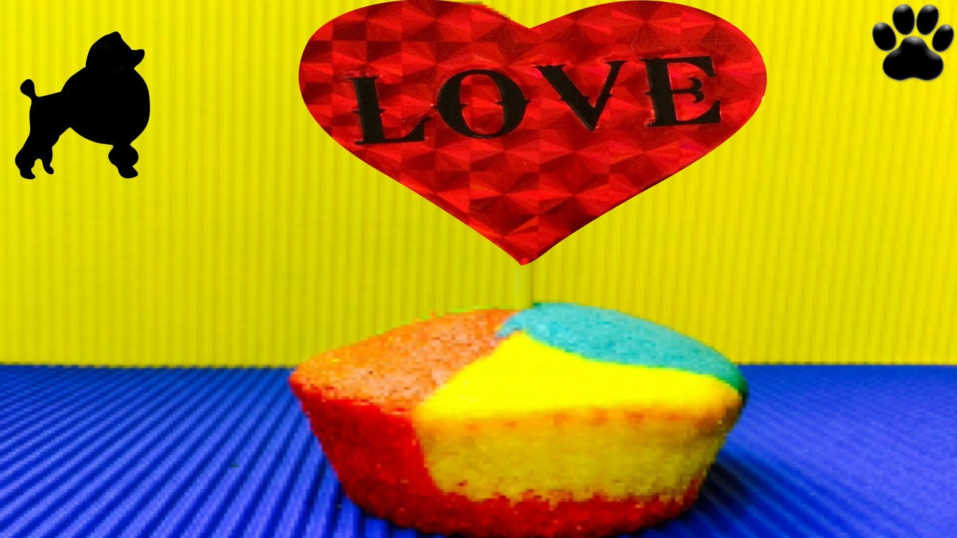 How to make RAINBOW PUPCAKES Cupcake Dog Cake - DIY Dog Food by Cooking For Dogs