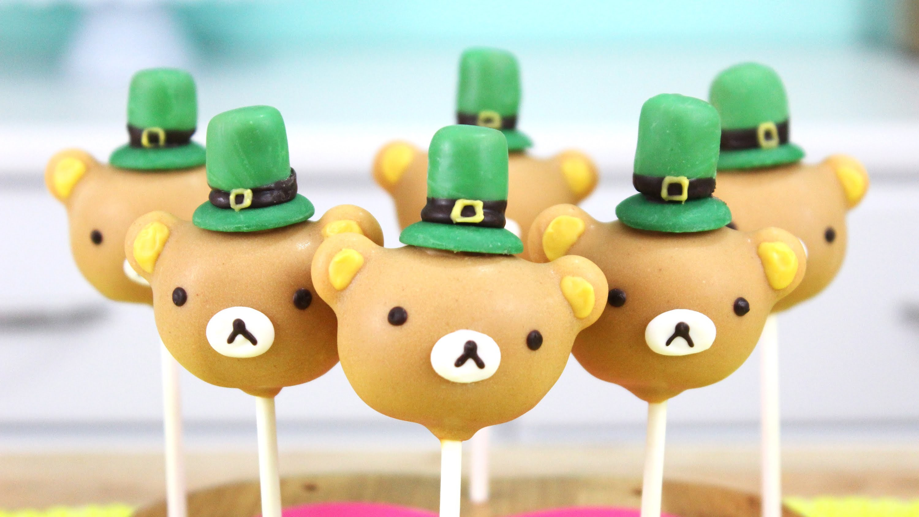 How to Make St. Patricks Day Rilakkuma Cake Pops!