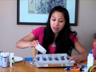 How to start a fire with dryer lint, egg carton & wax! DIY: Fire Starter