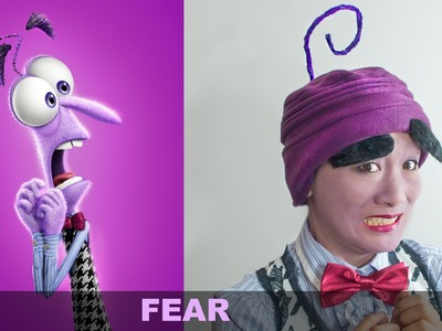 Inside Out FEAR MakeUp and Costume Tutorial DIY Halloween