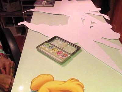 Jumbo Tinkerbell using digital Glitter paper