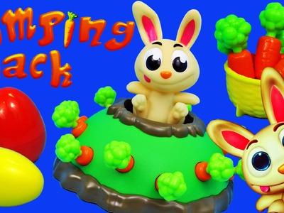 Jumping Jack Pop Rabbit Kids Board Game ❤ Bunny Surprise Eggs, Blind Bags & Frozen Elsa Barbie