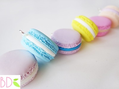 Macarons in fimo - Fimo clay macarons