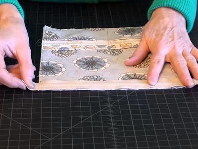 Make a Folding Wallet: Assemble the Zippered Pocket.Credit Card Holder