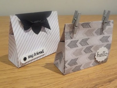 Mini Gift Bag using Go Wild 6 x 6 DSP from Stampin' Up