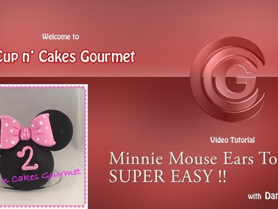 Minnie Mouse Ears Topper Tutorial. SUPER EASY !!! DIY