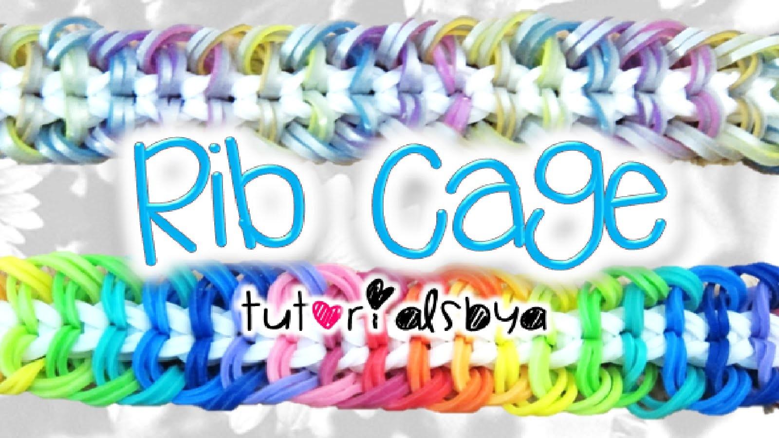 NEW Rib Cage Rainbow Loom Bracelet
