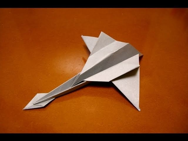 Origami jet fighter