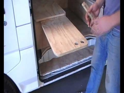 Part 3 - building a campervan conversion with a kitchen and a fridge for rent or sale