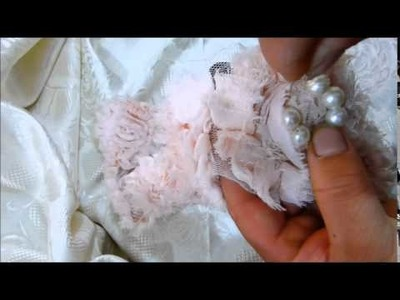 Pearl Beaded Shabby Rosette trim Tutorial
