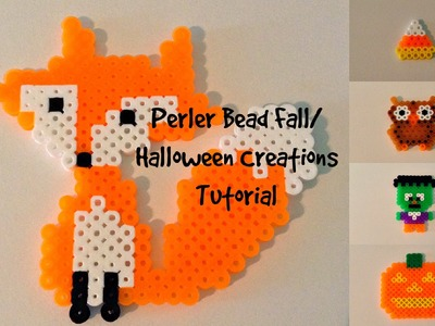 Perler Bead Fall.Halloween Creations Tutorial