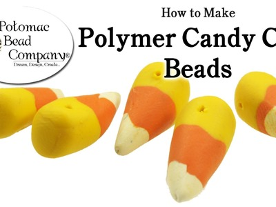 Polymer Clay Candy Corn Beads