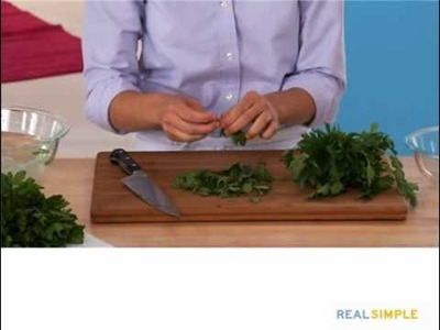 Real Simple How To: Clean, Chop, and Store Parsley Video