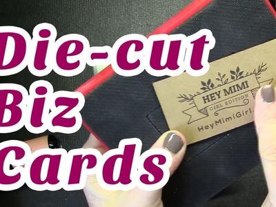 Sizzix Die Cut Business Cards DIY