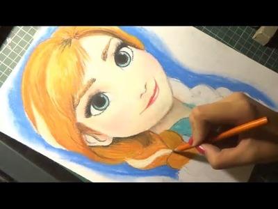 Speed Drawing: Anna (Frozen) | Diana Diaz