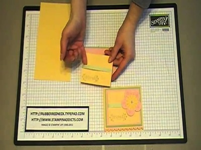 Stampin' Up! Tutorial~Post-it Note Holder With All My Heart.MOD