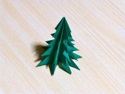 The art of folding paper. Christmas tree