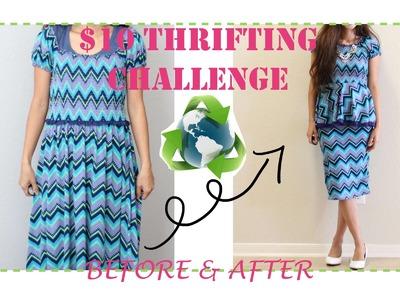Thrifted Transformations DIY Peplum Shirt and Skirt Set