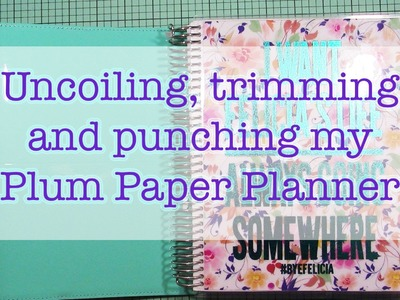 Uncoiling, trimming and punching my Plum Paper Planner